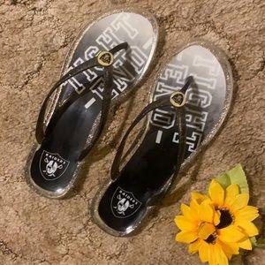 Raiders flip flops